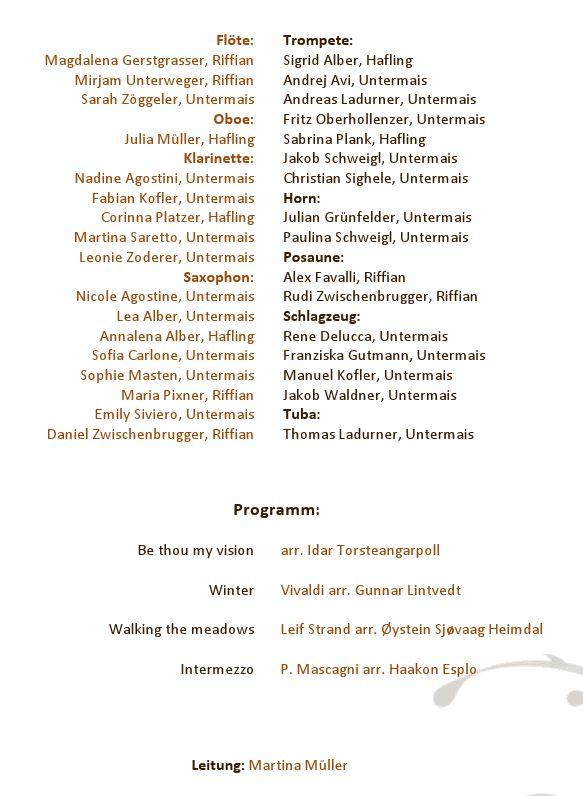 Konzert im Advent der Jugendkapelle HA-RI-BU 2011