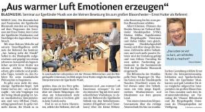 Seminar mit Ernst Hutter 2014